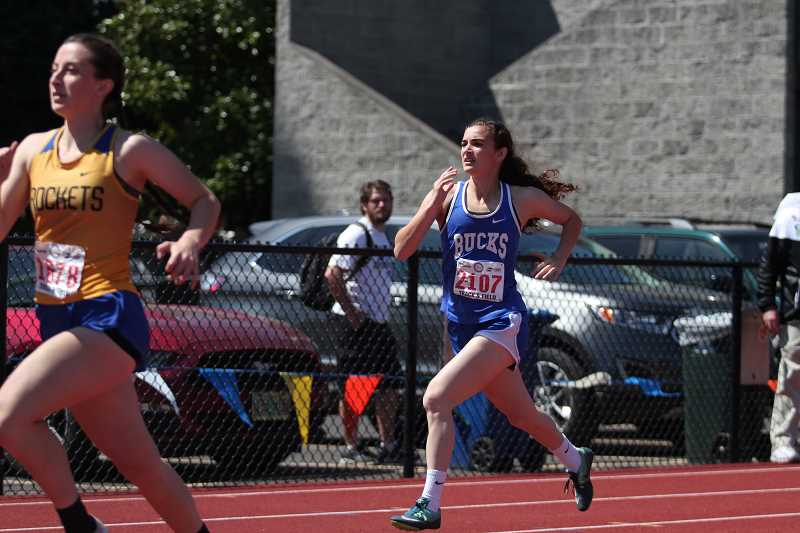 PHIL HAWKINS - St. Paul's Rachel Vela finished third in with a time of 1:04.49 in her heat of the 2A girls 400-meter preliminary race to qualify for the finals.