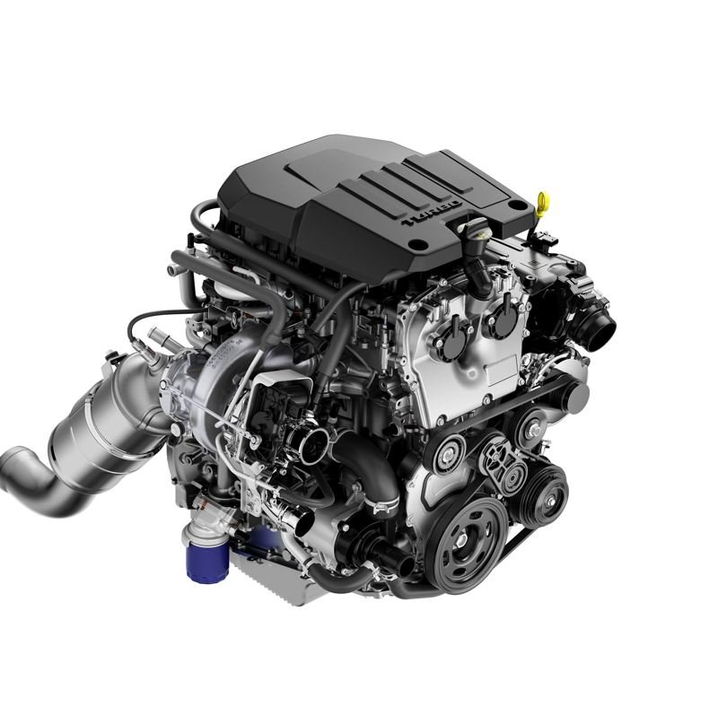 COURTESY CHEVY - The all-new 2.7-liter turbo engine with Active Fuel Management is paired with an eight-speed automatic transmission (SAE-certified at 310 hp/348 lb-ft).