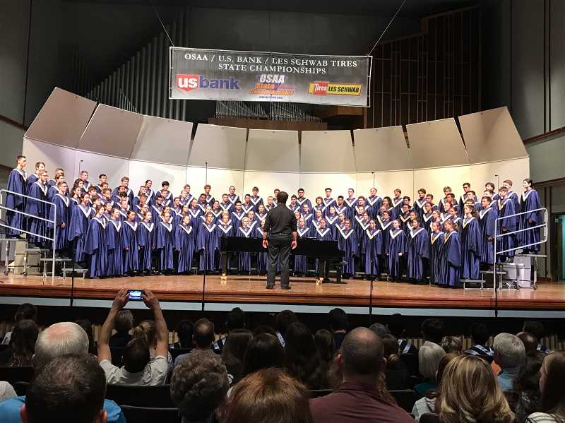 COURTESY PHOTO - Canby's concert choir performed in the OSAA 6A state competition at George Fox University on May 5.