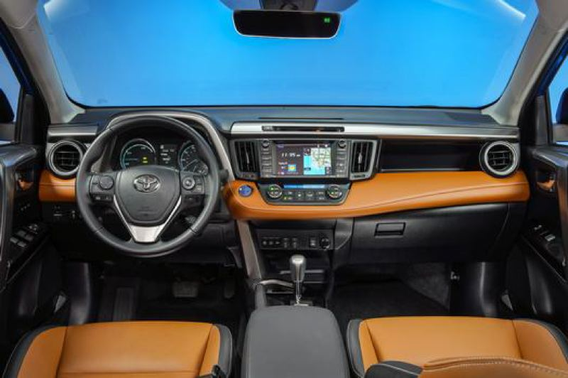 TOYOTA MOTOR CORPORATION - The interior of the 2017 Toyota RAV4 is clean and simple, with plenty of room and available leather seats.