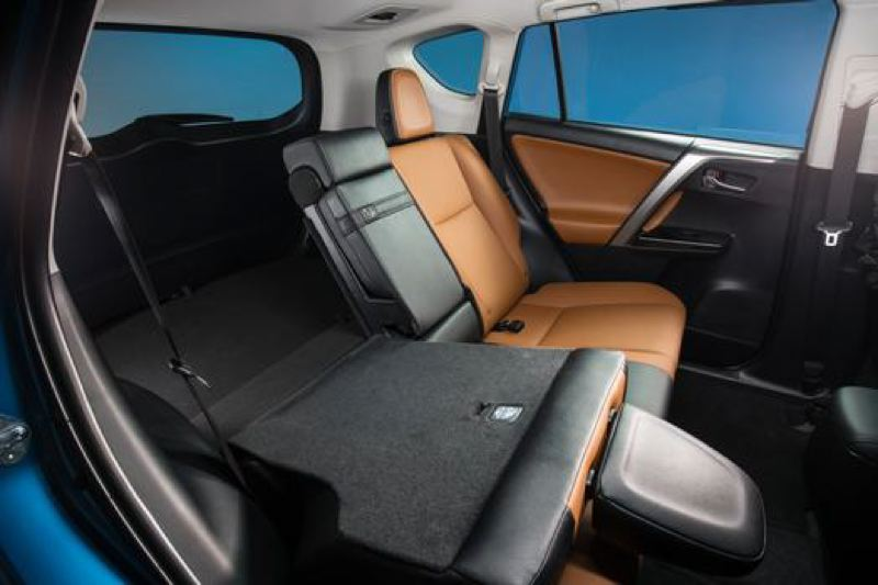 Toyota Motor Corporation The Rear Seats In 2017 Rav4 Hybrid Can Accomodate Three