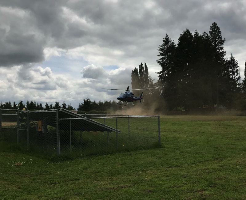 COURTESY PHOTO - A 70-year-old man suffering 'critical' injuries was transported to a local hospital by helicopter on Sunday, May 20.