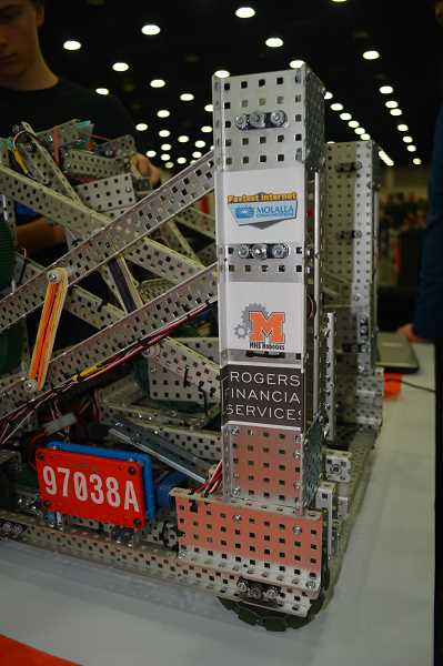 COURTESY PHOTO: DAVID LOWDER - The Gracious Professionals competed at the VEX Robotics World Championship in April.