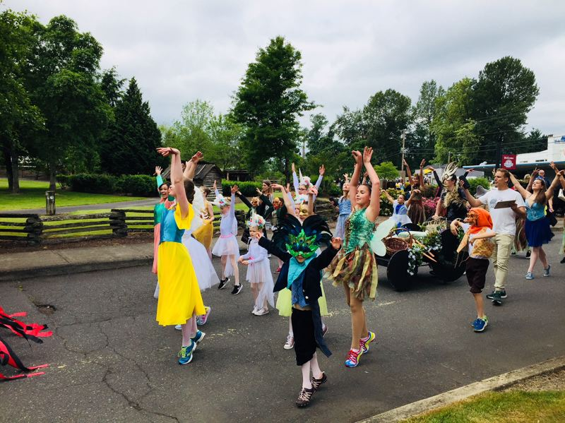 PHOTO COURTESY: TRACEY GRISHAM - Abernethy Performing Arts entertains spectators along the more than mile-long parade route in Oregon City.