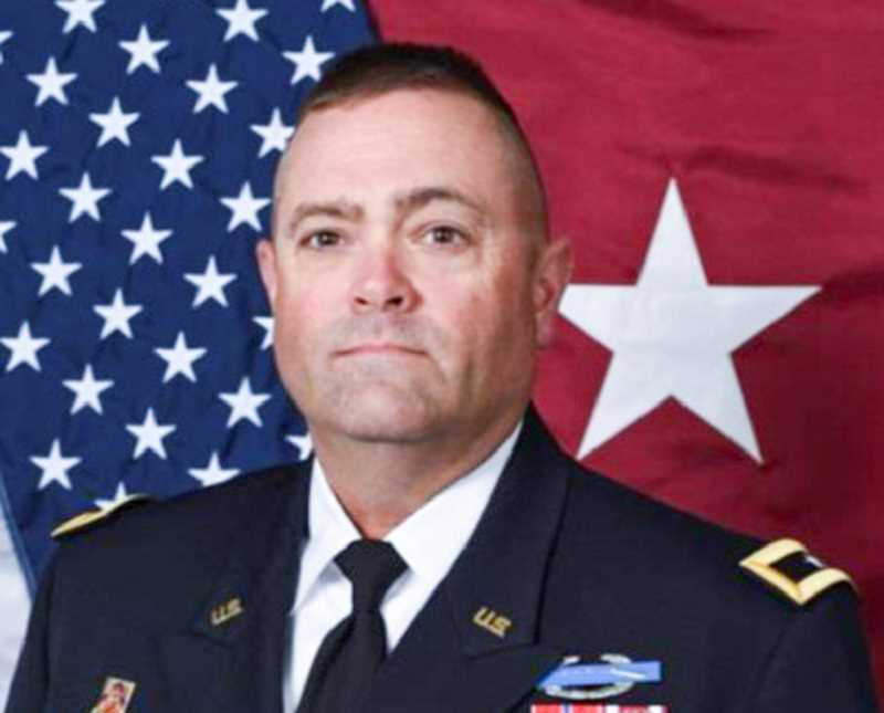 PHOTO SUBMITTED BY OREGON ARMY NATIONAL GUARD - Eric Bush will be promoted from brigadier general to major general on June 2.