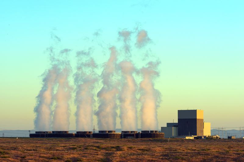 COURTESY ENERGY NORTHWEST - Water vapor arises from cooling towers at the Columbia Generating Station, a nuclear power plant north of Richland, Washington.