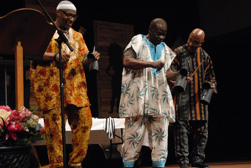 OUTLOOK PHOTO: MATT DEBOW - The Griots, an African drum group, close the CALebration with their rhythmic stylings.