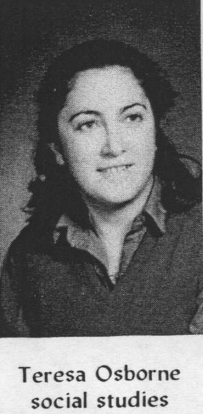 CONTRIBUTED PHOTO - Teresa Osborne when she first started teaching social stuides 34 years ago at Reynolds High School.