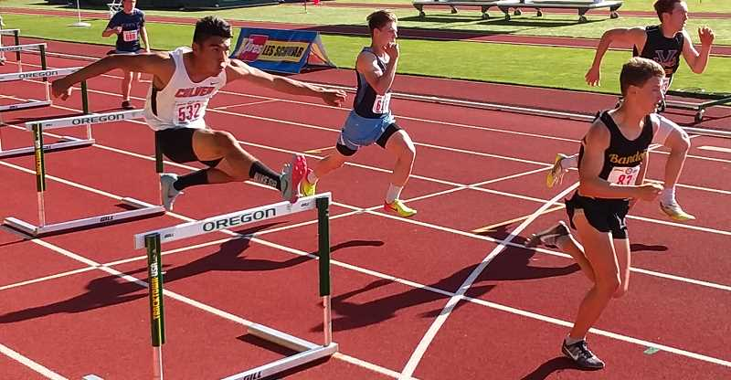 SUBMITTED PHOTO - Johan Jaimes participated in the hurdles at state.