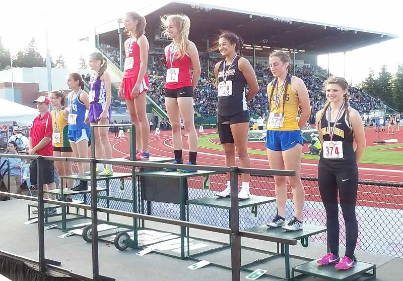 SUBMITTED PHOTO - Irma Retano finished fourth in the 400, despite having an injury.