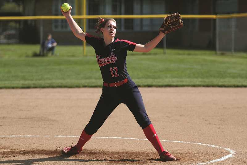 PHIL HAWKINS - After giving up three hits and an earned run in the first inning against Central Linn on May 15, Kennedy senior Tressa Riedman allowed only one more hit for the remainder of the game and finished with 12 strikeouts. She followed with a 15-strikeout shutout over Western Mennonite to end the week.