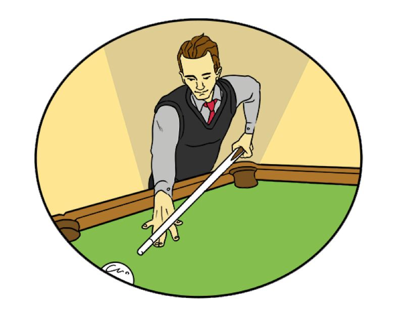 DRAWING BY: RYAN COX - Monte Harris had this drawing done for him to help promote a left-handed pool tournament.