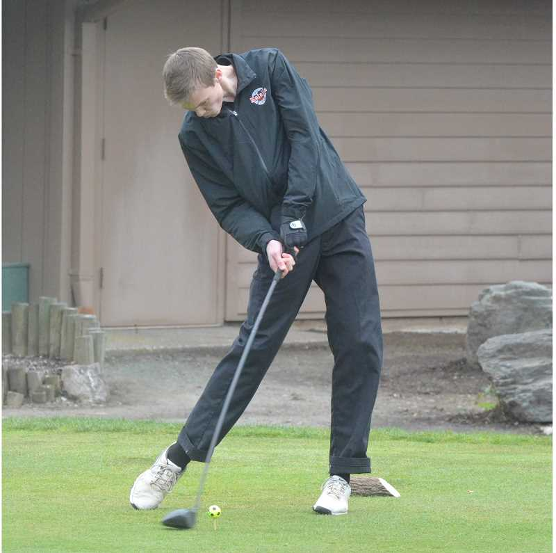 ARCHIVE PHOTO: TANNER RUSS - Molalla boy's golf team did not advance past district tournament, and was outgunned against Valley Catholic.