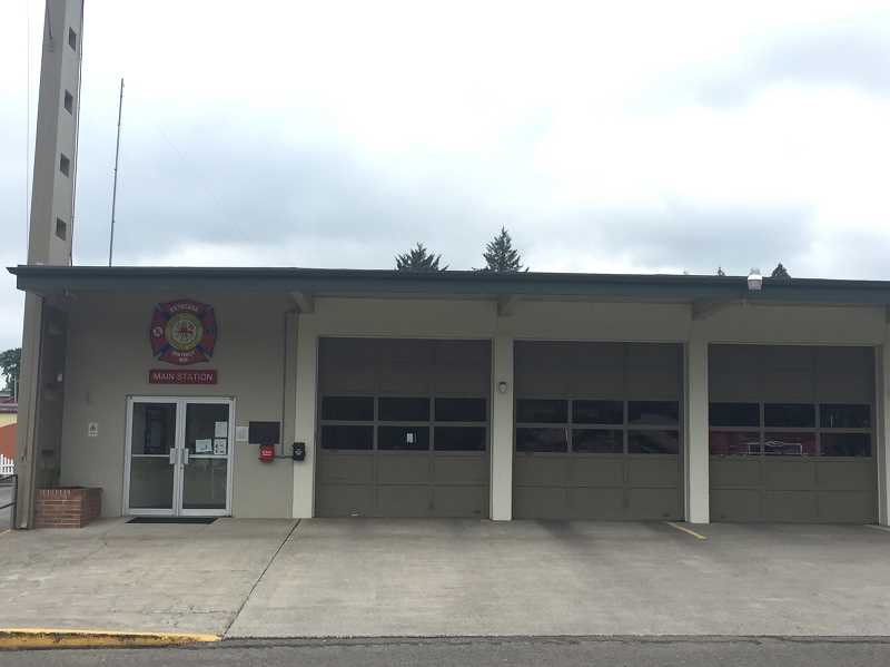ESTACADA NEWS PHOTO: EMILY LINDSTRAND - Seismic upgrades to the Estacada Rural Districts main station will include adding additional support to the walls, roof and floor of the building at Southeast Jeremy Loveless Avenue.