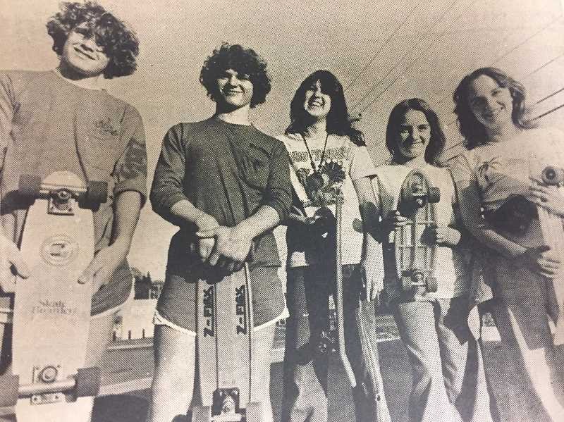 ARCHIVE PHOTO - In 1978, members of the Estacada Skateboard team wrote a letter to Mayor Mike Park saying there were no adequate places to skateboard in town.
