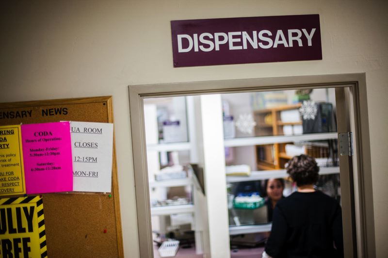 PORTLAND TRIBUNE FILE PHOTO - Patients pick up their doses from the methadone dispensary at CODA, a nonprofit that specializes in addiction recovery.