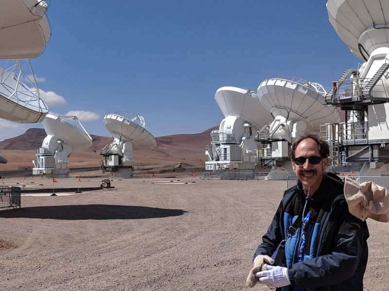 PHOTO COURTESY OF PAT HANRAHAN - MHCC Planetarium Director Pat Hanrahan at the 16,500-foot elevation Atacama Large Millimeter Array site. This is the largest and most advanced radio telescope in the world.