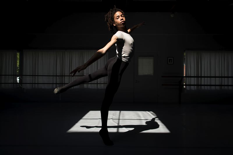 TRIBUNE PHOTO: JAIME VALDEZ - Hobbs Waters, who dances at Southeast Portlands' Classical Ballet Academy, has found himself in ballet, rising above  prejudice and a lack of resources to earn a place in the national spotlight.