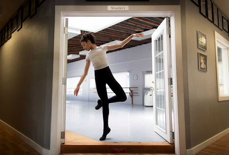 TRIBUNE PHOTO: JAIME VALDEZ - Hobbs Waters, an 11-year-old Arbor Lodge resident, doesn't just dance — he also runs a design business and runs many other side projects.