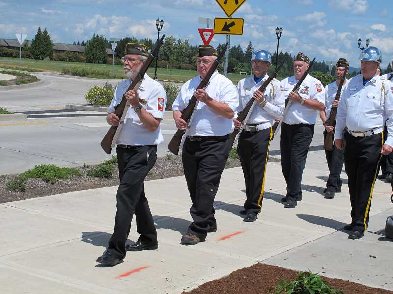 FILE PHOTO - The annual Memorial Day event along Veterans Drive in Hillsboro is planned for Monday, May 28.
