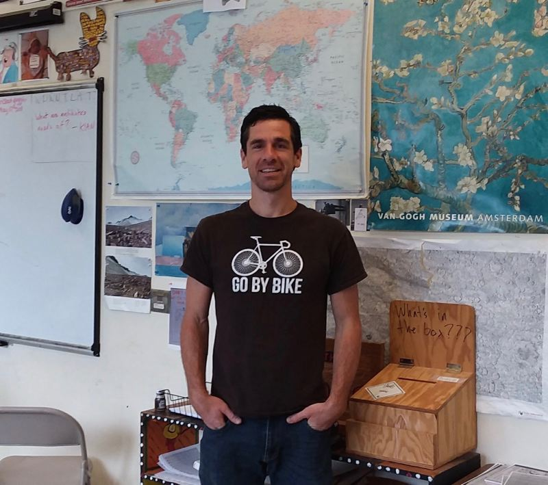 CONTRIBUTED PHOTO - Lucas Houck, the best K-8 teacher in the state, will take a group of students to Europe this summer to study.
