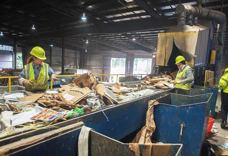 SPOKESMAN FILE PHOTO - Republic Services provides recycling and garbage collection services to Wilsonville residents.