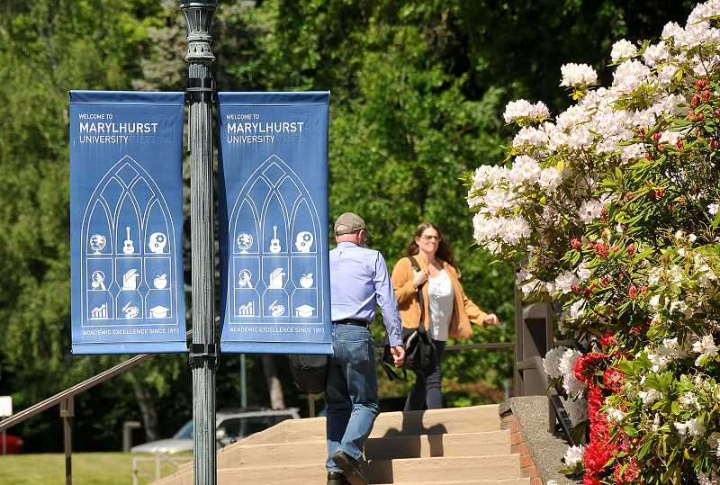 REVIEW PHOTO: VERN UYETAKE - Marylhurst's student body is older on average than at most universities — 34 years for undergraduates, 38 for graduate students. Nearly one-third of Marylhursts students attend online and about one-quarter attend evening classes, according to the university website.