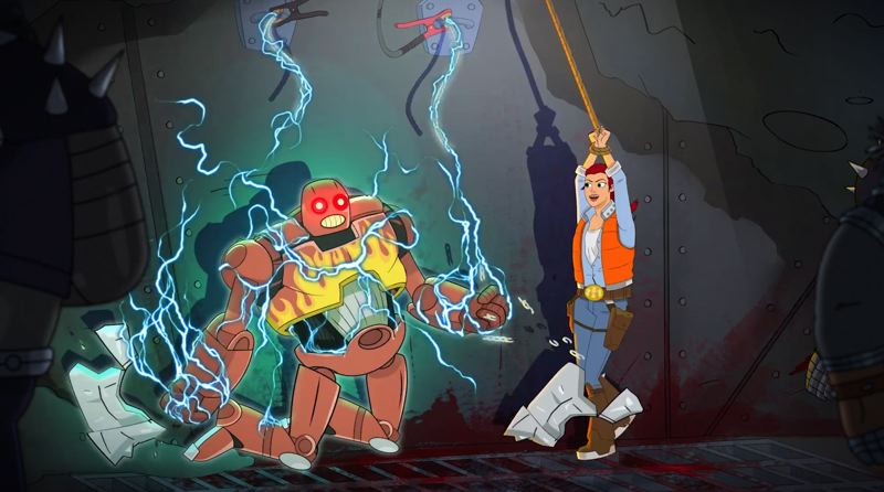 COURTESY: SHADOWMACHINE - 'Dallas & Robo,' the new animated series by Portland's ShadowMachine studio, makes its debut on YouTube Red on Wednesday, May 30. It stars Kat Jennings and John Cena.