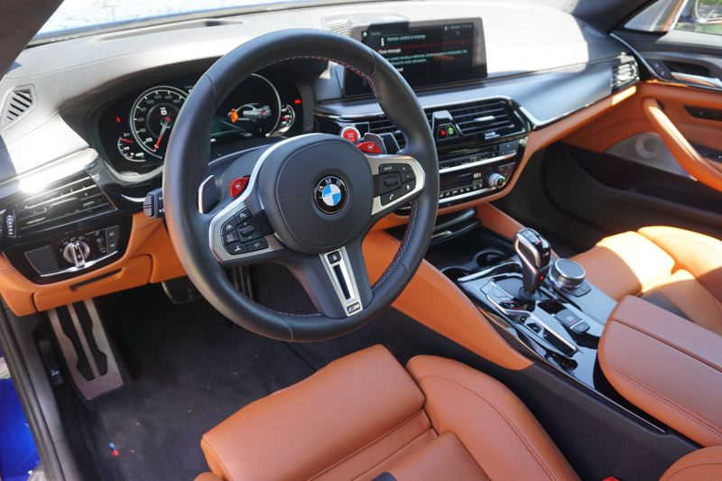 PORTLAND TRIBUNE: JEFF ZURSCHMEIDE - The M5 comes with state of the art tech, including surround-view camera and active park distance control. The standard audio infotainment system includes a Harman Kardon sound system, navigation, and every convenience.