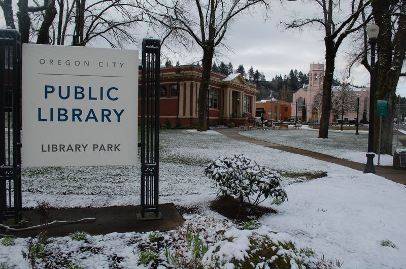PHOTO BY: RAYMOND RENDLEMAN - Oregon City residents hated the previous sign at the public library, which took citizens by surprise when it was installed.