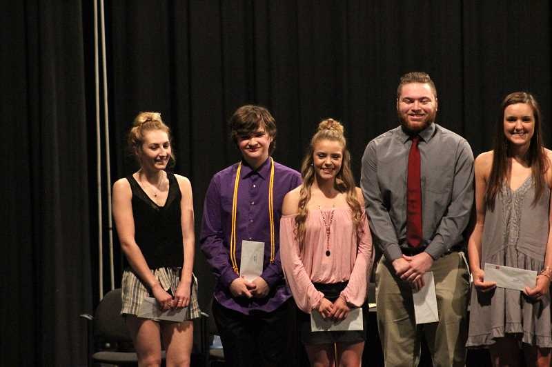 PIONEER PHOTO: KRISTEN WOHLERS - Pictured from left to right are: Trinity Putnam, Jacob Chandler, Sierra Cox, Chase Pursley and Alicia Schultz.