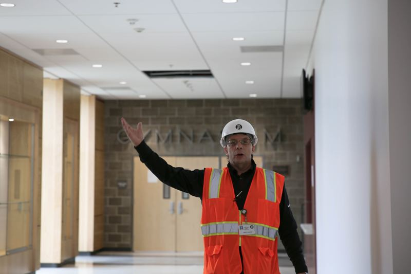 LAURA KLINKNER/OPB - Portland Public Schools Chief Operating Officer Jerry Vincent during a tour of Franklin High School.