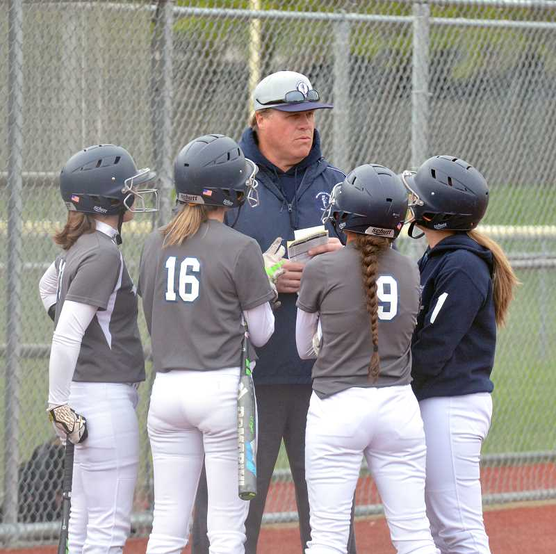 ARCHIVE PHOTO: TANNER RUSS - Coach Steve Harms and his coaching staff had a fairly successful first season at the helm of Wilsonville softball team.