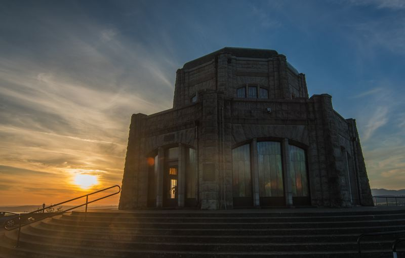 FILE PHOTO - An estimated 4,000 to 5,000 people from around the globe visit the Vista House at Crown Point each day for its iconic view of the Columbia River Gorge.