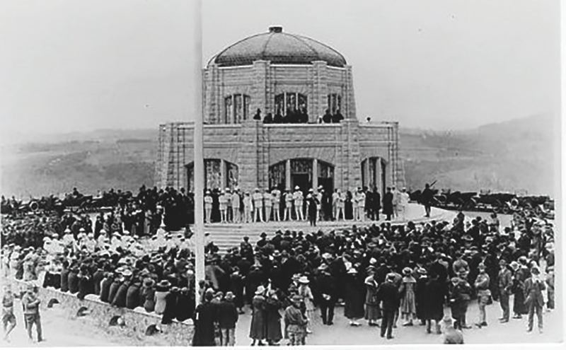 CONTRIBUTED PHOTO: CROWN POINT COUNTRY HISTORICAL SOCIETY - Despite cost over-runs and lack of permanent future funding, the Vista House opened to much pomp and ceremony on May 5, 1918.