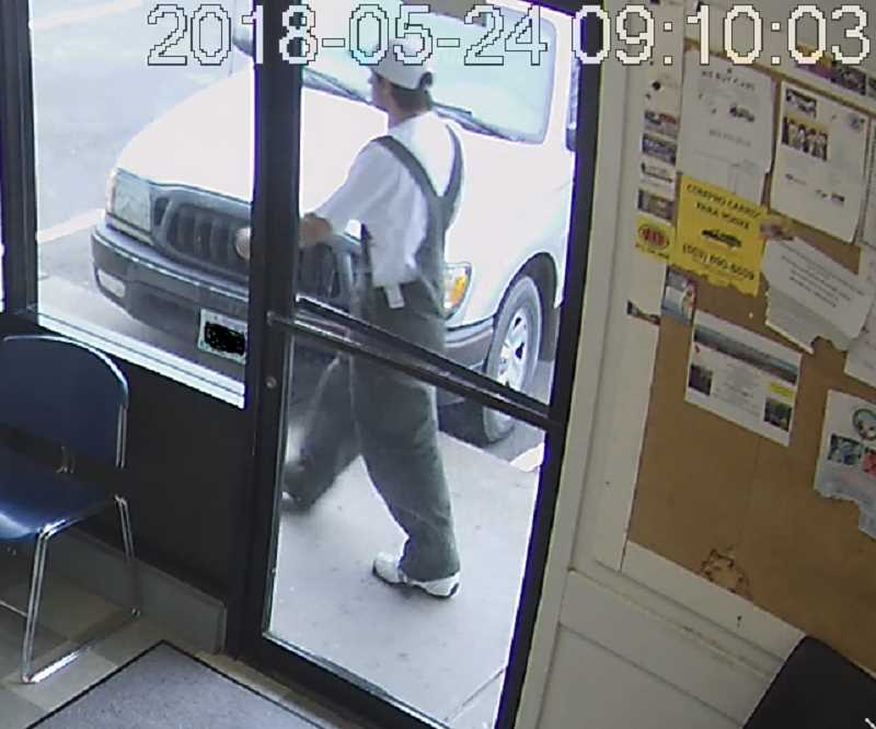 COURTESY WOODBURN POLICE DEPARTMENT - Suspect in Gina's Restaurant robbery.