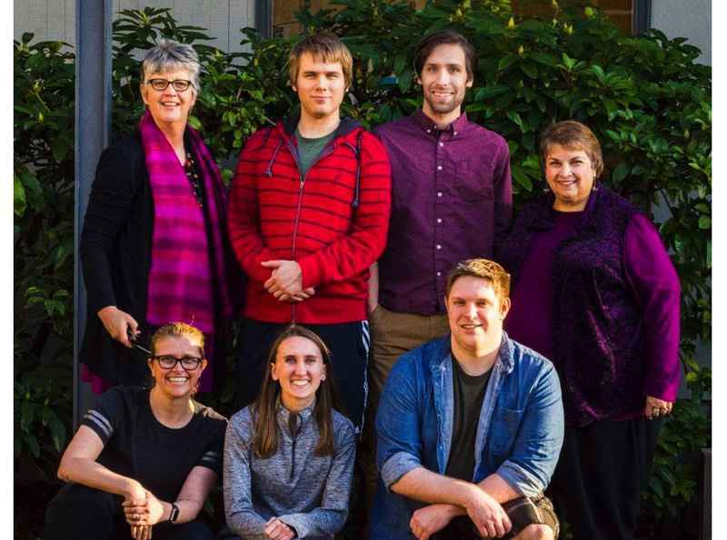 SUBMITTED PHOTO - Members of Rising Phoenix Theater include, front row left to right, Lizzie Keith, Kendra Munroe and Ted Landauer. Back row, Suzanne Chimenti, Tristan Knopf-Jenkins, Whitman Craig and Susan Scovil. Not pictured: Alex Blendl.