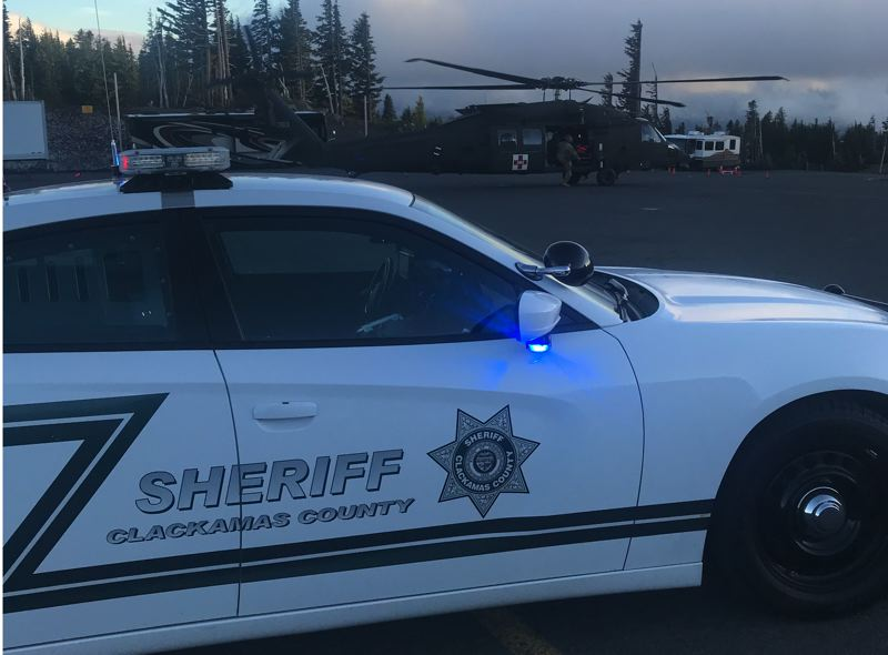 POLICE PHOTO - The Clackamas County Sheriff's Office and the Oregon Army National Guard helped rescue the 35-year-old Portland man.