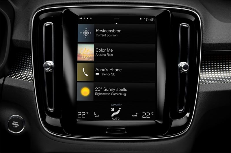 VOLVO CAR GROUP - The large swipe-and-touch screen is perhaps the most advanced on the market today.
