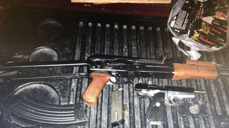 POLICE PHOTO - Police say they confiscated these two weapons from Emanuel Venegas-Vazquez.