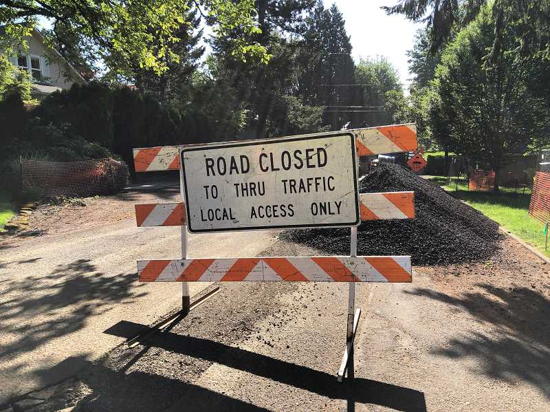 PHOTO COURTESY OF THE CITY OF LAKE OSWEGO - Project officials are reminding neighbors that Local Access Only means only residents who live in the work zone can enter. Neighborhood residents who can reach their houses by alternate routes are asked to avoid the work zones.