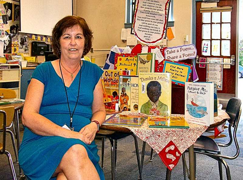 RITA A. LEONARD - Llewellyn School Librarian Cheryl McDonald retires this month after 20 years service in the Portland Public Schools - fifteen of them at Llewellyn.