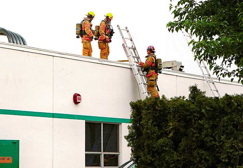 DAVID F. ASHTON - The firefighters on the roof reported on what theyd found there.