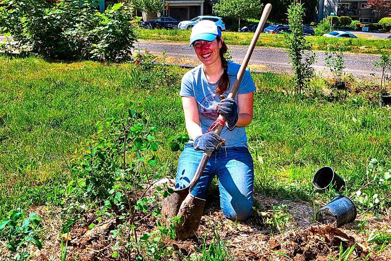 DAVID F. ASHTON - A five-year Springwater Meadows volunteer, SMILE Board Member Elizabeth Milner, says shes excited to see the planting project nearing completion.