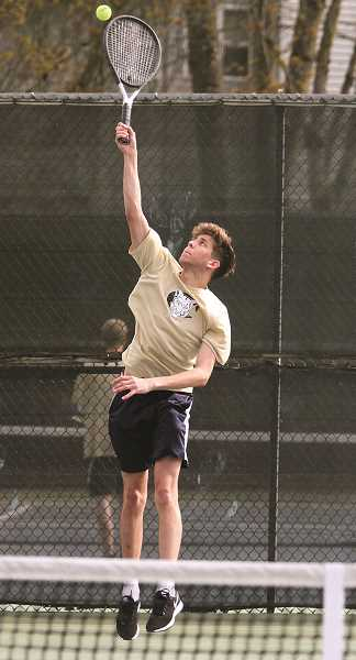 ARCHIVE PHOTO: MILES VANCE - Spencer Doman was one of two of Canby's singles to win a match at the district tournament.
