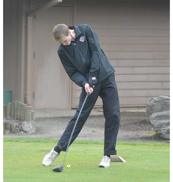 ARCHIVE PHOTO: TANNER RUSS - The Molalla boys golf team showed realy improvement over the course of the season, but it was not enough to advance them past the district match.