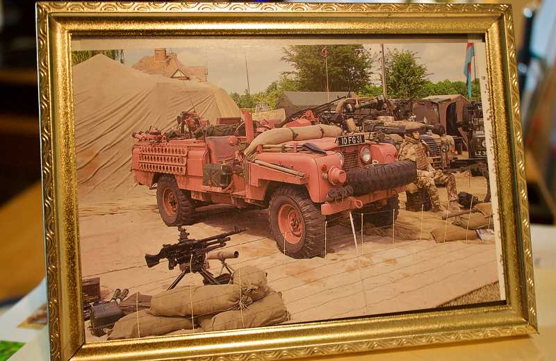 OUTLOOK PHOTO: CHRISTOPHER KEIZUR - During WWII, a British division became famous for fighting in pink vehicles. While researching the Pink Panthers, Patrick Hibbard had to convince his friends they were real.