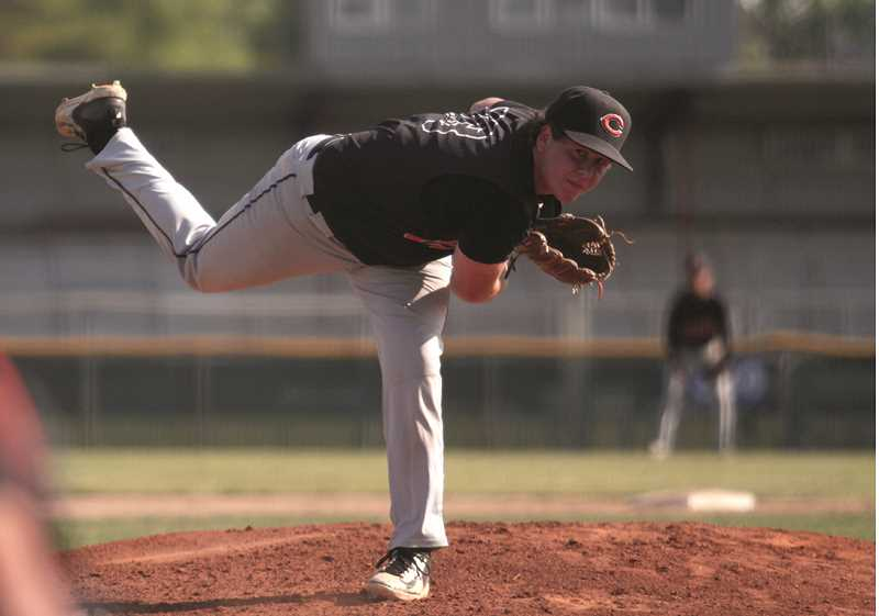 PHIL HAWKINS - Cole Little pitches against Kennedy in the state playoffs.