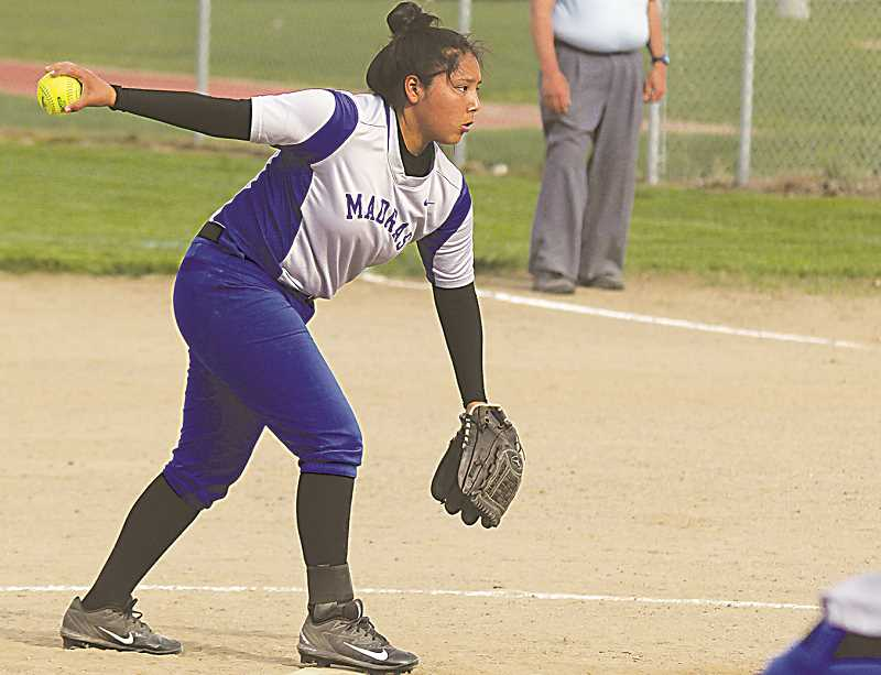 STEELE HAUGEN - Sophomore Jiana Smith-Francis earns TVC second team pitcher.