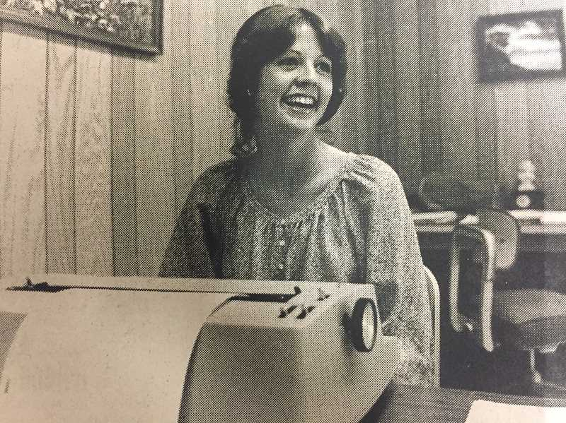 ARCHIVE PHOTO - In 1978, Estacada High School student Arlene Tyseling refined her secretarial skills at City Hall through a work study program organized by business teacher Jan Brock.
